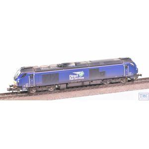 2D-022-010 Dapol N Gauge Class 68 68026 DRS Plain Blue with VALUE Weathering by TMC
