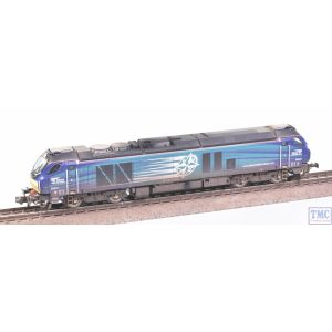 2D-022-011 Dapol N Gauge Class 68 68034 DRS Compass with VALUE Weathering by TMC