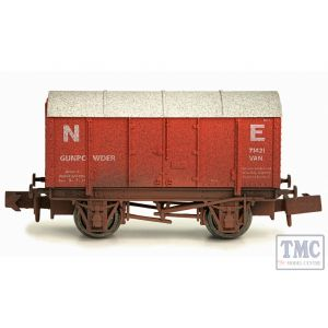 2F-013-014 Dapol N Gauge Gunpowder Van LMS 299062 Weathered