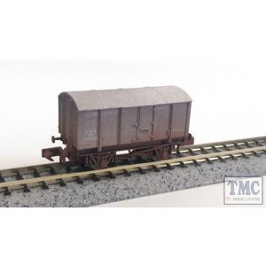2F-013-028 Dapol N Gauge Gunpowder Van LMS Grey 701018 Weathered