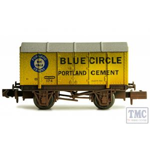 2F-013-034 Dapol N Gauge Gunpowder Van Blue Circle 174 Weathered