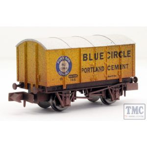 2F-013-046 Dapol N Gauge Gunpowder Van Blue Circle 146 Weathered