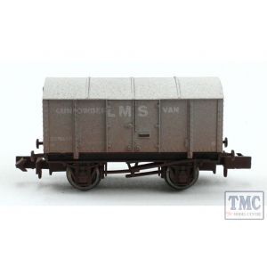 2F-013-050 Dapol N Gauge Gunpowder Van LMS 299035 Weathered