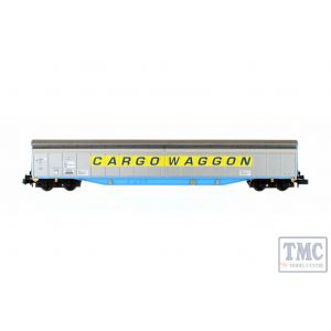2F-022-005 Dapol N Gauge Ferry Wagon Cargowaggon 3380 279 7516-2 Yellow Stripe