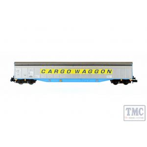 2F-022-006 Dapol N Gauge Ferry Wagon Cargowaggon 3380 279 7543-6 Yellow Stripe