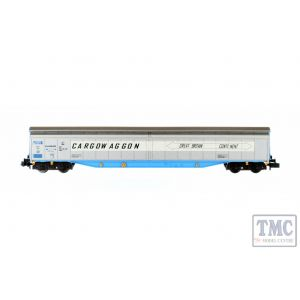 2F-022-007 Dapol N Gauge Ferry Wagon Cargowaggon 3380 279 7586-4P White Stripe