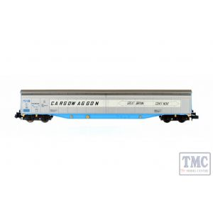 2F-022-008 Dapol N Gauge Ferry Wagon Cargowaggon 3380 279 7656-6P White Stripe