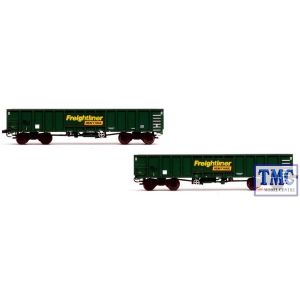 2F-025-003 Dapol N Gauge MJAFreightliner Heavy Haul Box Van Twin 502021 & 022
