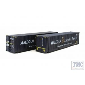 2F-028-003 Dapol N Gauge 45 Ft Container Malcolm Logistics 450029-3 & 450033-3