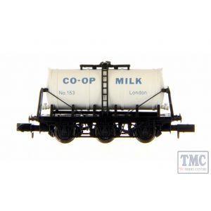 2F-031-018 Dapol N Gauge 6 Wheel Milk Tanker Co-op London