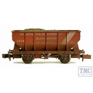 2F-034-032 Dapol N Gauge 21T Hopper Pilkington 1974 Weathered