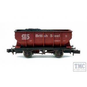 2F-034-040 Dapol N Gauge 21T Hopper British Steel 33 Weathered