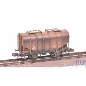 2F-036-004 Dapol N Gauge Bulk Grain Hopper LMS Bauxite 700349 with Deluxe Weathering by TMC