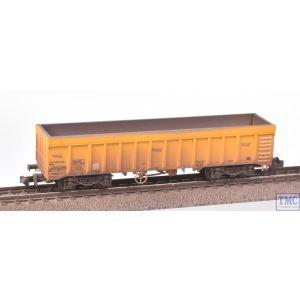2F-045-005 Dapol N Gauge IOA Ballast Wagon Network Rail Yellow 3170 5992 028-4