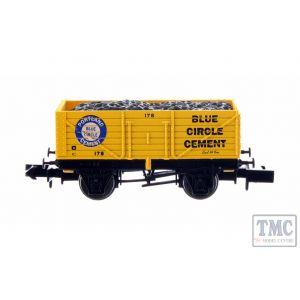 2F-071-054 Dapol N Gauge 7 Plank Wagon Blue Circle Cement 178