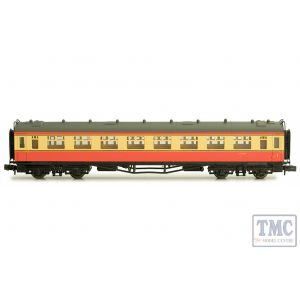 2P-000-033 Dapol N Gauge Collett Coach BR Crimson/Cream Composite W7014