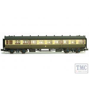 2P-000-057 Dapol N Gauge Collett Coach GWR Crest Chocolate & Cream Composite 7047