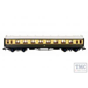 2P-000-058 Dapol N Gauge Collett Coach GWR Chocolate/Cream Composite 7032
