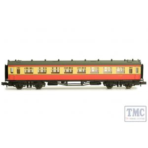 2P-000-133 Dapol N Gauge Collett Coach BR Crimson/Cream Second W1083