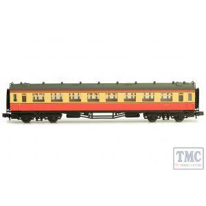 2P-000-134 Dapol N Gauge Collett Coach BR Crimson/Cream Second W1117