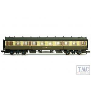 2P-000-157 Dapol N Gauge Collett Coach GWR Crest Chocolate & Cream 3rd Class 1116