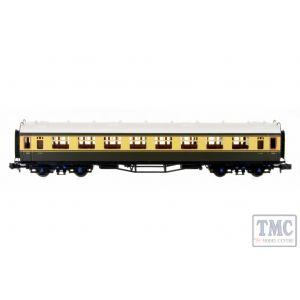 2P-000-180 Dapol N Gauge Collett Coach BR Chocolate/Cream 2nd W1092