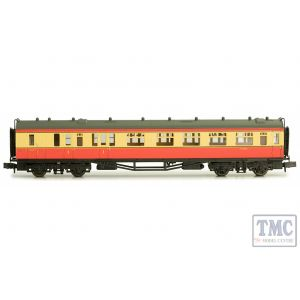 2P-000-232 Dapol N Gauge Collett Coach BR Crimson/Cream Brake Composite W6553