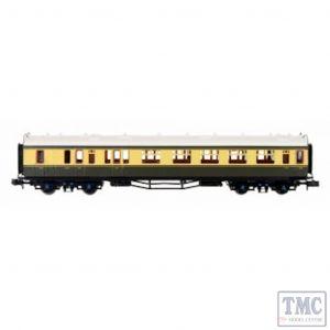 2P-000-270 Dapol N Gauge Collett Coach BR Chocolate/Cream Brake Composite W6539