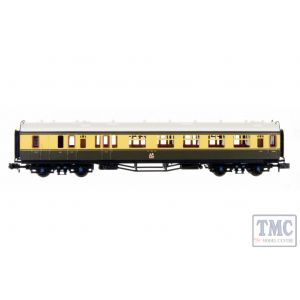 2P-000-283 Dapol N Gauge Collett Coach GWR Crest Chocolate/Crm Brake Composite 6527