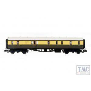 2P-000-340 Dapol N Gauge Collett Coach BR Chocolate/Cream Full Brake W195