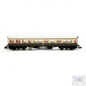 2P-004-010 Dapol N Gauge Autocoach GWR Shirtbutton Chocolate & Cream 196