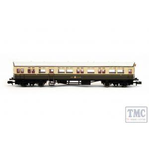 2P-004-011 Dapol N Gauge Autocoach GWR Great Crest Western Chocolate & Cream 190