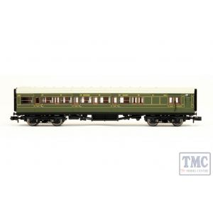 2P-012-075 Dapol N Gauge Maunsell SR Brake Composite Coach Lined Green 6565