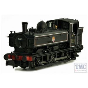 2S-007-018 Dapol N Gauge Pannier 8763 BR Lined Black Early Crest Later Cab