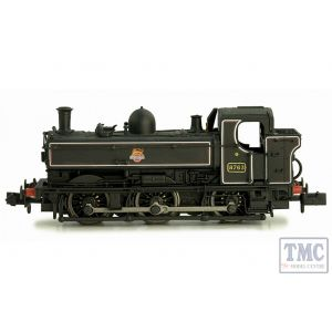 2S-007-018D Dapol N Gauge Pannier 8763 BR Lined Black Early Crest Later Cab DCC