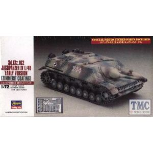 Hasegawa SdKfz 162 Jagdpanzer 1:72 IV L/48 Early Version With Zimmerit Kit (Pre owned)