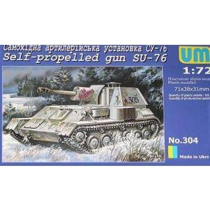 UM 1:72 Self-propelled gun SU-76 Kit no 304 (Pre owned)