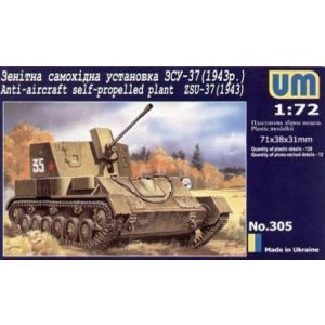 UM 1:72 Anti-aircraft self-propelled plant ZSU-37 Kit no 305 (Pre owned)
