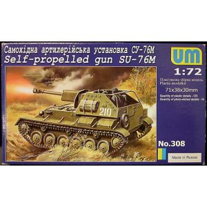 UM 1:72 Self-propelled gun SU-76M Kit no 308 (Pre owned)