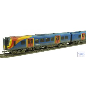 31-041 Bachmann OO Gauge Class 450 4 Car EMU 450127 South West Trains Weathered by TMC