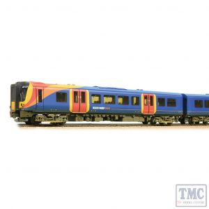 31-041 Bachmann OO Gauge Class 450 4-Car EMU 450127 South West Trains - Weathered