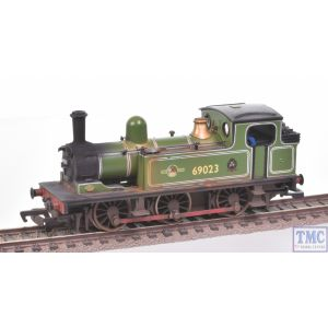 31-051 Bachmann OO Gauge 0-6-0T J72 69023 BR Green L/Crest Crew Coal & Weathered by TMC (Pre-owned)