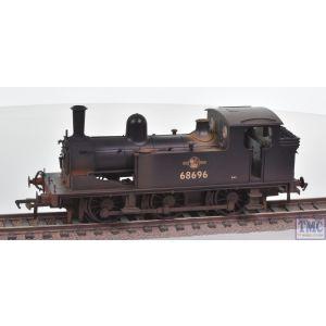 31-062 Bachmann OO Gauge LNER J72 Tank 68696 BR Black (Late Crest)