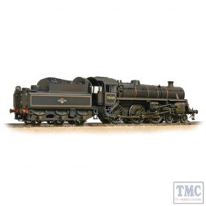 31-119 Bachmann OO Gauge BR Standard 4MT with BR2 Tender 75035 BR Lined Black (Late Crest) - Weathered