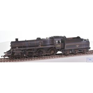 31-119 Bachmann OO Gauge BR Standard 4MT 75035 BR Lined Black L/Crest (BR2 Tender) Real Coal & Deluxe Weathering by TMC