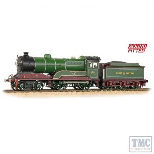 31-147DS Bachmann OO Gauge GCR 11F 502 'Zeebrugge' GCR Lined Green - Sound Fitted