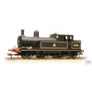 31-169 Bachmann OO Gauge L&YR 2-4-2 Tank 50705 BR Lined Black Early Emblem