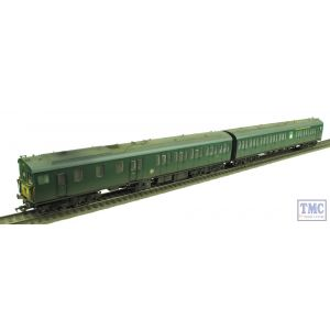 31-236A Bachmann OO Gauge Class 205 1121 BR Green Small Yellow Panel Weathered by TMC