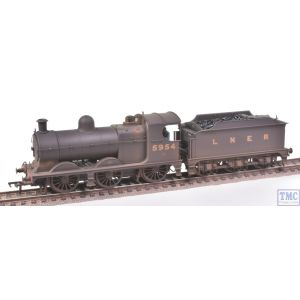 31-318A Bachmann OO Gauge Robinson Class J11 (GCR 9J) no.5954 LNER Black Crew Real Coal & Weathered by TMC (Pre-owned)