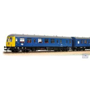 31-325DC Bachmann OO/HO Scale Class 105 2 Car DMU BR Blue Yellow Ends + Head Code (DCC on Board)